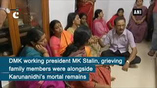 Grieving DMK supporters pay last respects to party patriarch Karunanidhi