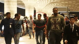 Salman Khan MACHO Entry With Bodyguards At Airport, Leaves To Malta For BHARAT Shooting