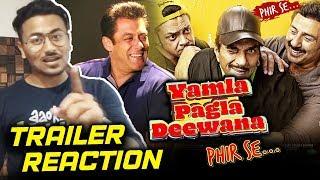 Yamla Pagla Deewana Phir Se TRAILER   REVIEW   REACTION   Salman Khan, Dharmendra, Sunny Deol, Bobby
