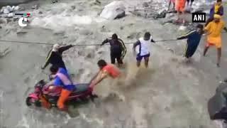 NDRF rescues stranded people from Uttarakhand's Tharali