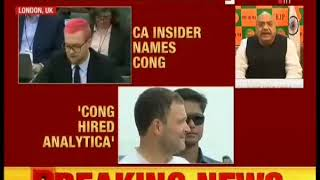 Christopher names Congress as Analytica's client so RaGa must apologise to the nation for his lie!