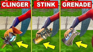 Deal damage to players using a Clinger, Stink Bomb, or Grenade - FORTNITE WEEK 5 CHALLENGES SEASON 5