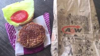 Beyond Meat Veg Burger A&W Review | Taste Test Veg Burger
