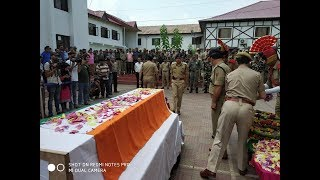 Wreath laying event for martyred Policeman held at DPL Srinagar