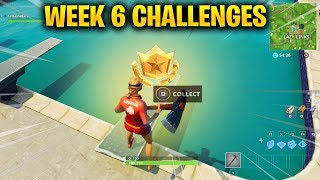 FORTNITE WEEK 6 CHALLENGES - Complete Timed Trials & Search where the Stone Heads are looking
