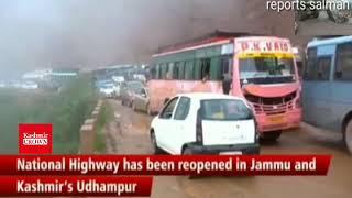 National Highway reopened in J&K's Udhampur after landslide
