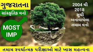 ગુજરાતના સાંસ્કૃતિક વનો - most imp for gpsc,police,Dyso,talati,tat,tet, constable, clerk, GSRTC,