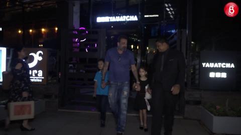Sanjay Dutt Takes Wife Maanayata & Kids For A Dinner Date!