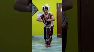 """Odissi Dance """" Nava Durga """" prepare before Stage by Ritika Rath."""