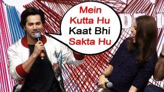 Mein Kutta Hu Kaat bhi Sakta Hu | Varun Dhawan Funny Reaction | Sui Dhaaga Trailer Launch