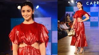 Gorgeous And Cute Alia Bhatt RAMP WALK For Caprese | Caprese 3 Alia Bhatt Collection Launch