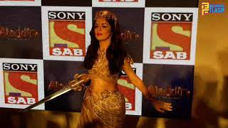 Avneet Kaur Sword Fighting At Aladdin Serial Launch | SAB TV