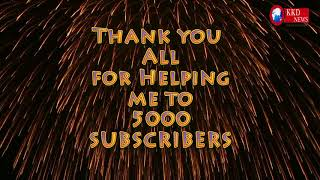 5,000 SUBSCRIBERS!!!Thank You!!