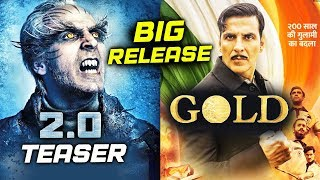 Robot 2.0 TEASER To Release With Akshay's GOLD On Independence Day