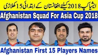 Asia Cup 2018: Afghanistan 15 Players Team Squad For Asia Cup 2018 | Cricket News Today