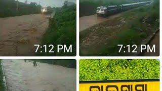Train Journey in Heavy Rain Koraput to Bhubaneswar Today.