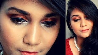 AM I Bengali ? Chit Chat Get ready with me | Bronze Eye festive makeup using affordable makeup