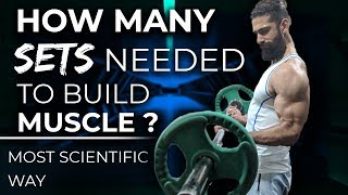 HOW MANY SETS AND REPS TO BUILD MUSCLE AND LOSE FAT (Most Scientific Way)