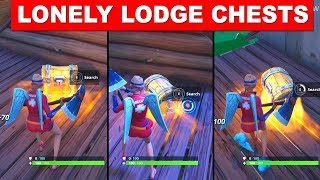 Search Chests in Lonely Lodge -  FORTNITE WEEK 6 CHALLENGES SEASON 5