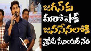 జగన్కు షాక్.. వైకాపా నుంచి సీనియర్ నేత ఔట్ | YCP leader join into pawan kalyan janasena party