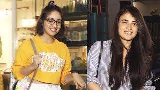 Yami Gautam & TV Actress Radhika Spotted At B Blunt Saloon