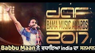 babbu maan live wining DAF BAMA music awards 2017 HAMBURG