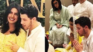 Priyanka Chopra & Nick Jonas WEDDING Engagement Ceremony Indian Style Inside House In Mumbai