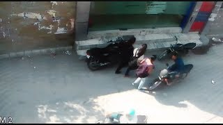 Caught in CCTV : Overspeed Byke hits a school girl   | JanSangathan Tv