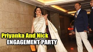 Priyanka's Mother Arrives At Priyanka Chopra & Nick's Engagement Party