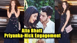 Gorgeous Alia Bhatt At Priyanka Chopra - Nick Jonas Engagement Party