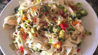 How to cook Stir Fry simple | Easy Thick Rice Noodles Recipe