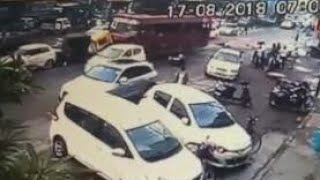 CCTV : BUS ACCIDENT IN LUDHIANA BUS STAND