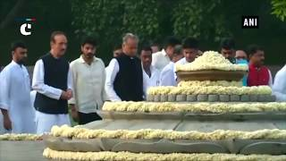 Tributes pour in on Rajiv Gandhi's birth anniversary at Vir Bhumi