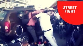 Office time Real street fight