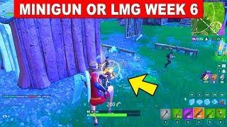 Minigun or Light Machine Gun Eliminations - FORTNITE WEEK 6 CHALLENGES SEASON 5