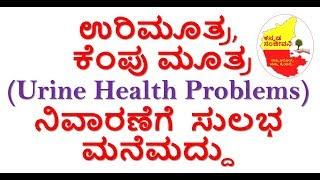 Home Remedies for Burning Urination Kannada | Urine Health Problems solution | Kannada Sanjeevani