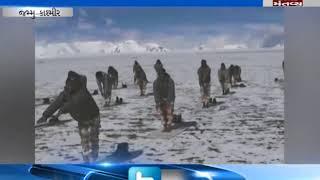 ITBP Jawan perform yoga at 18,000 feet in Ladakh