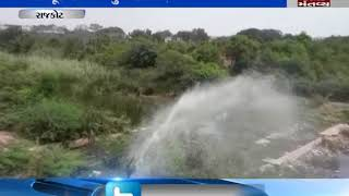 Water wastage due to leakage in line near Rajkot