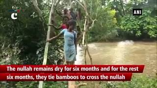 Villagers risk their lives to cross river in Mayurbhanj