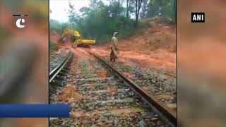 Railway employees, locals clear Sakleshpur-Mangaluru track after boulder blocks train route