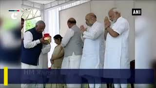 PM Modi, Amit Shah handover urns with ashes of Vajpayee to party's state presidents