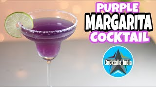 how to make margarita cocktail with blue tea | purple margarita | dada bartender | organic cocktail