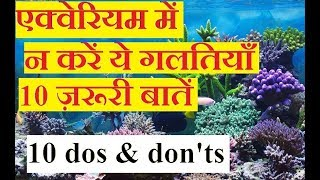 ????10 Mistakes In Aquarium Kills Fishes |Hindi&Urdu| Dos And Don't In Getting A New Aquarium| Tips