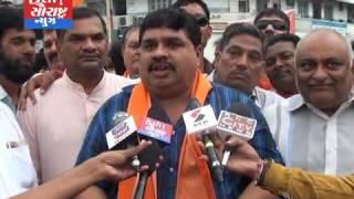 ગુજરાત BJP ના અધ્યક્ષ તરીકે જીતેન્દ્રભાઈ વાઘાણી ની પસંદગી થતા રાજકોટ BJP કાર્યકરો દ્વારા ઉજવણી