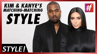 fame hollywood - Kim Kardashian and Kanye West's matching-matching Style