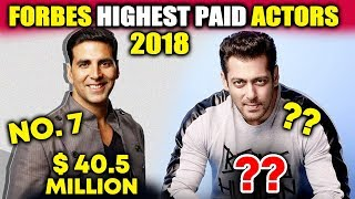 Akshay, Salman Among TOP 10 World's Highest Paid Actors | FORBES Highest Paid Actors List