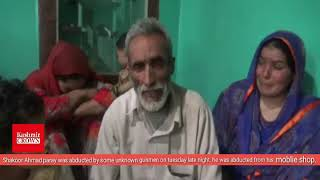 Abducted Shakoor Ah Parrys family is appealing and pleading abductors to release their son.