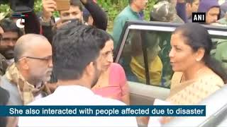Nirmala Sitharaman visits flood & landslide affected areas in Karnataka's Kodagu