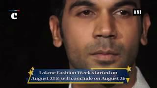 Lakme Fashion Week 2018:  Rajkummar Rao sparkles in white sherwani