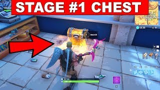 Stage 1: Search a Chest in Pleasant Park - FORTNITE WEEK 7 CHALLENGES SEASON 5